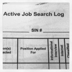 active job search log
